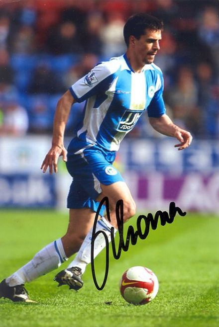 Paul Scharner, Wigan Athletic, signed 6x4 inch photo.